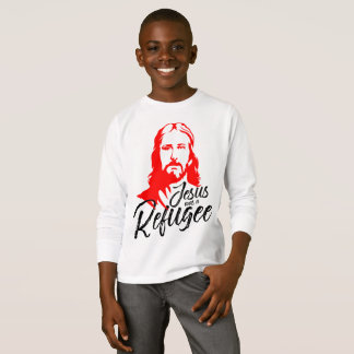 T-shirt van het Sleeve van Jesus Boy's de Lange
