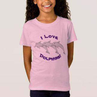 T-shirt van Jersey van de Meisjes van de dolfijn