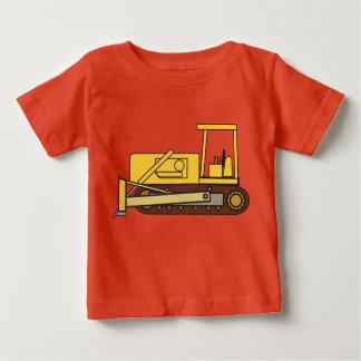 t-shirt van Jersey van het Baby van de bulldozer