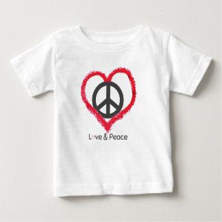 T-shirt van Jersey van het Baby van de liefde en