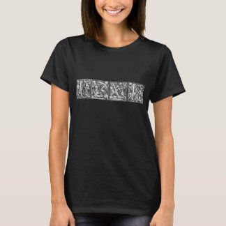 T-shirt van L O V euro van Danse de Macabere