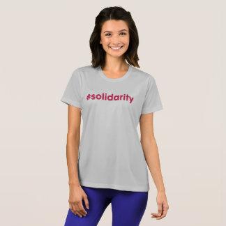 T-shirt van sport-Tek van de Dames van #solidarity