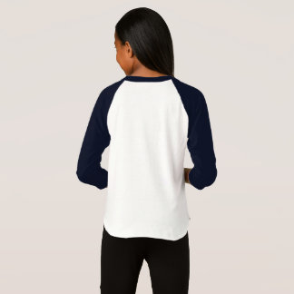 T-shirt voor raglanmeisje aan hechten 3/4 van