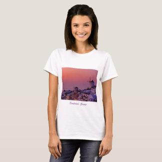 T-shirt - Zonsondergang over Santorini,