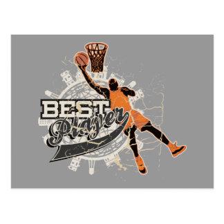 T-shirts en Giften van de Speler van het basketbal Briefkaart