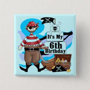 Piraat Verjaardag Buttons Zazzle Nl
