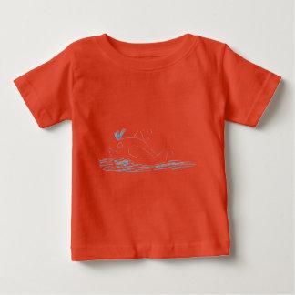 T -t-shrt van de Kinderen van de Walvis van Wally Baby T Shirts