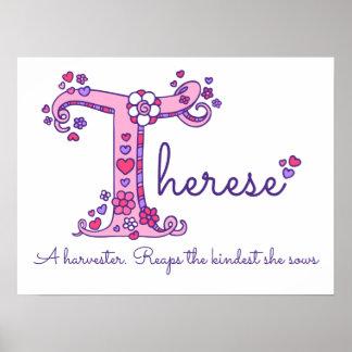 T Therese aanvankelijke de naambetekenis van de Poster
