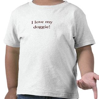 """T van het kind - de """"liefde van I mijn doggie! """" Shirts"""