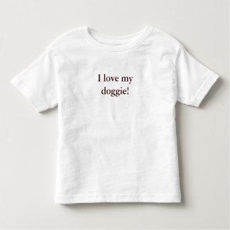 """T van het kind - de """"liefde van I mijn doggie! """" Tshirt"""