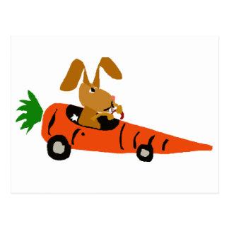 TA de grappige Cartoon van de Auto van de Wortel Briefkaart