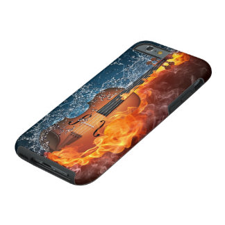 Taaie iPhone 6 van de Viool van de brand en van Tough iPhone 6 Hoesje