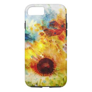 Taaie iPhone 7 van de Zonnebloemen van de iPhone 8/7 Hoesje