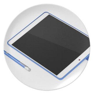Tablet op tribune en digitale pen bord