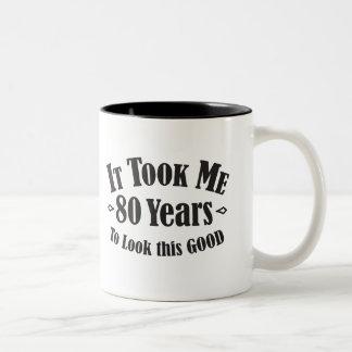 tachtigste nam het me 80 tachtig jaar om dit goed tweekleurige koffiemok