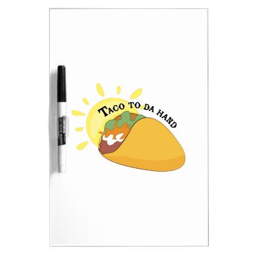 Taco aan de Hand van DA Whiteboard