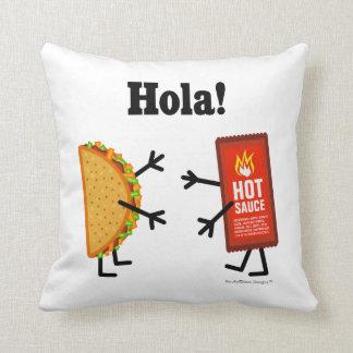 Taco & Hete Saus - Hola! Sierkussen