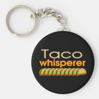Taco Whisperer Basic Ronde Button Sleutelhanger