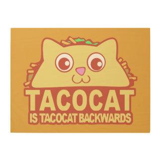 Tacocat achteruit II Hout Afdruk