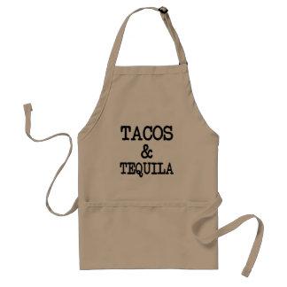 Taco's en grappige schort Tequila