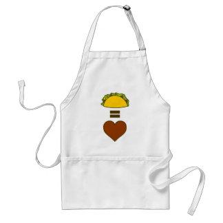 Taco's = Liefde Standaard Schort