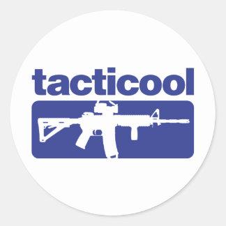 Tacticool - Blauw Ronde Sticker