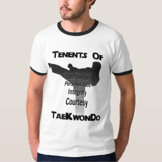 Tae Kwon Do Traditional Tenets T Shirt
