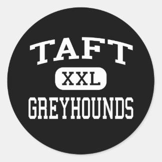 Taft - Windhonden - Mindere - Taft Texas Ronde Sticker