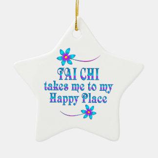 Tai Chi Mijn Gelukkige Plaats Keramisch Ster Ornament