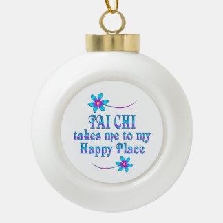 Tai Chi Mijn Gelukkige Plaats Keramische Bal Ornament