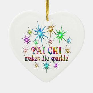 Tai de Fonkelingen van de Chi Keramisch Hart Ornament
