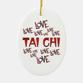 Tai van de Liefde van de liefde Chi Keramisch Ovaal Ornament