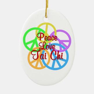 Tai van de Liefde van de vrede Chi Keramisch Ovaal Ornament