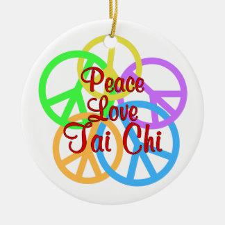Tai van de Liefde van de vrede Chi Rond Keramisch Ornament