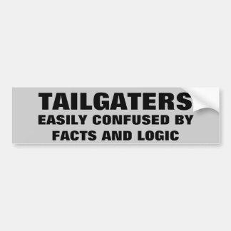 Tailgaters: Verward door Feiten en Logica Bumpersticker
