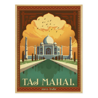 Taj Mahal, India Briefkaart