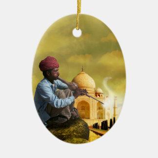 Taj Mahal Keramisch Ovaal Ornament