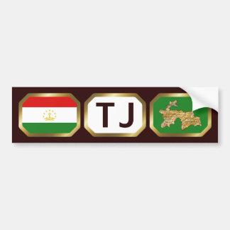 Tajikistan de Sticker van de Bumper van de Code