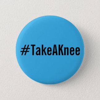 #TakeAKnee, gewaagde zwarte tekst op heldere Ronde Button 5,7 Cm