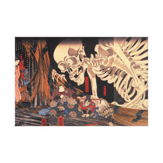 Takiyasha de Heks en het Spook van het Skelet Stretched Canvas Prints