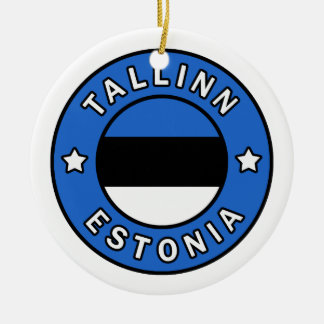 Tallinn Estland Rond Keramisch Ornament