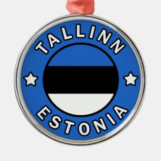 Tallinn Estland Zilverkleurig Rond Ornament