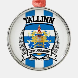 Tallinn Zilverkleurig Rond Ornament