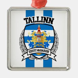 Tallinn Zilverkleurig Vierkant Ornament
