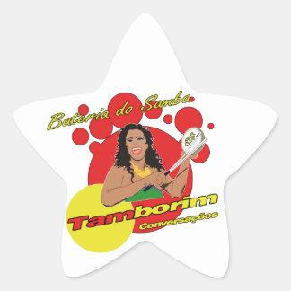 Tamborim Batucada van Samba Ster Sticker