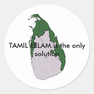 TAMIL EELAM is de enige oplossing Ronde Sticker