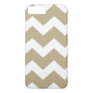 Tan Chevron iPhone 8/7 Plus Hoesje