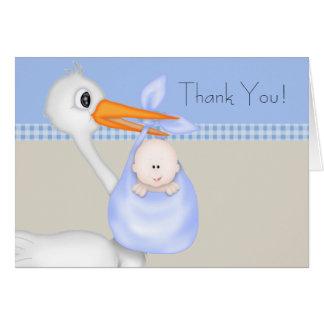 Tan dankt de Blauwe Jongen van het Baby van de Kaart