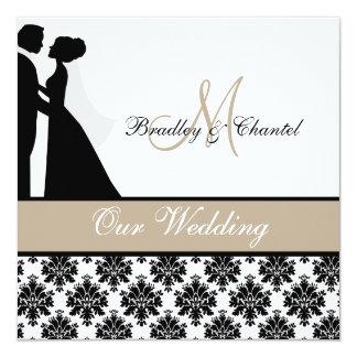 Tan de Uitnodiging van het Huwelijk van het Paar