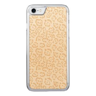 Tan Druk van de Kat van de Jachtluipaard de Carved iPhone 8/7 Hoesje